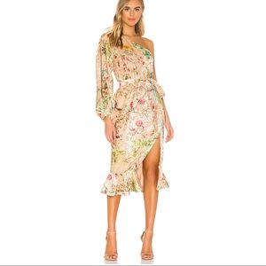 Hemant and Nandita Veena floral burnout nude dress